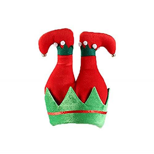 XDXDWEWERT Kreative lustige Weihnachtshose Mütze Halloween Party Hut Weihnachten Zubehör (rot und grün)