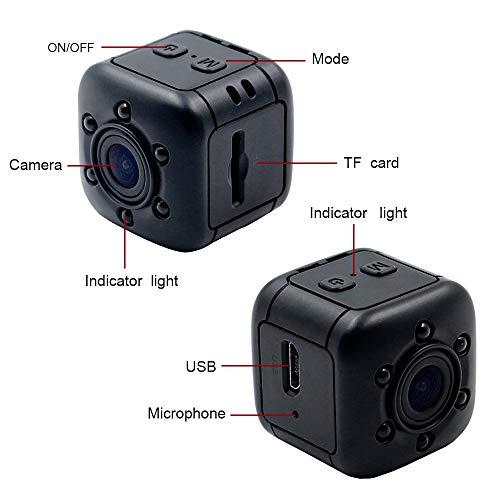 1080P Mini Cam Surveillance Kamera LXMIMI Portable HD Nanny Web Cam mit Nachtsicht und Bewegungserkennung für Home / Office Indoor / Outdoor Security Kamera - 6