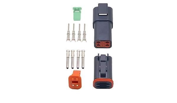 4S DT04 4P 1/Kit de jeux de Deutsch DT Kit de connecteurs /électriques /étanches /à 4/broches pour 22 16/AWG DT06