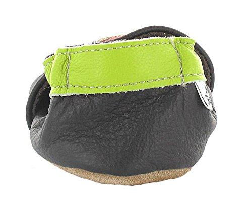 HOBEA-Germany Krabbelschuhe in verschiedenen Farben und Designs mit Tieren , Schuhgröße:20/21 (12-18 Monate);Modell Schuhe:Waschbär Eule braun
