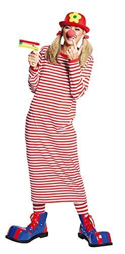 (Rubie's NEU Damen Kostüm Rivel-Shirt rot-weiß Gr. 38)