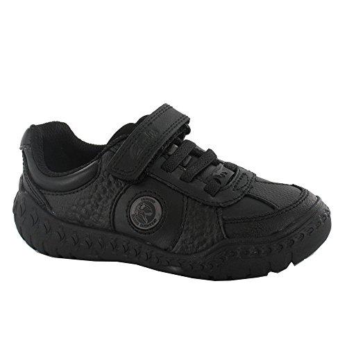 Clarks Stomp Rex Infant Boys School Shoe In Black Leather
