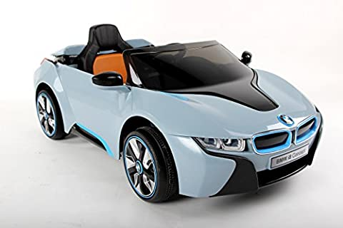 New 2017 Model Official Licensed BMW i8 Concept Twin Powered Rechargeable Electric Ride on Kids Car With Parental Remote Control(Blue)
