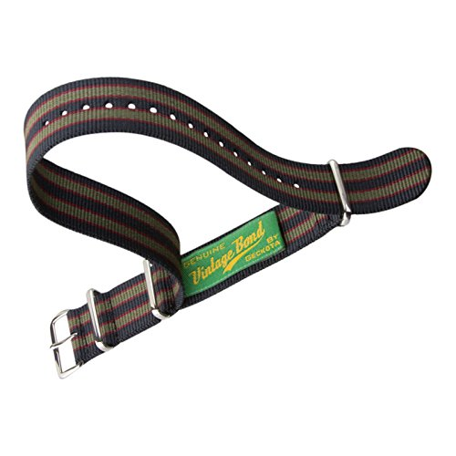 vintage-bond-nylon-nato-uhrenarmband-bei-geckotar-poliert-dunkelblau-rot-grun-gestreift-22mm