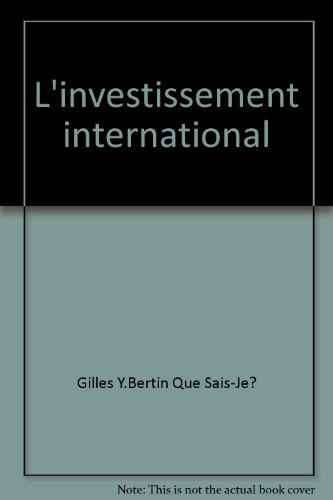 L'investissement international