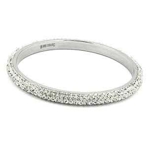 D' Aro Shop24® Bracelet, 4-row, white glass stones -