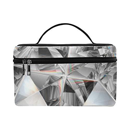 Glänzende Edelstein Diamant Muster Lunchbox Tote Bag Lunch Holder Isolierte Lunch Cooler Bag Für Frauen/Männer/Picknick/Bootfahren/Strand/Angeln/Schule/Arbeit