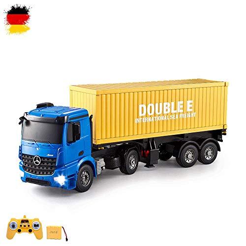 Mercedes-Benz Arocs - 2.4GHz 1:20 RC ferngesteuerter LKW Container Truck, mit Licht, Sound, Container abnehmbar, Komplett-Set ink. Fernsteuerung
