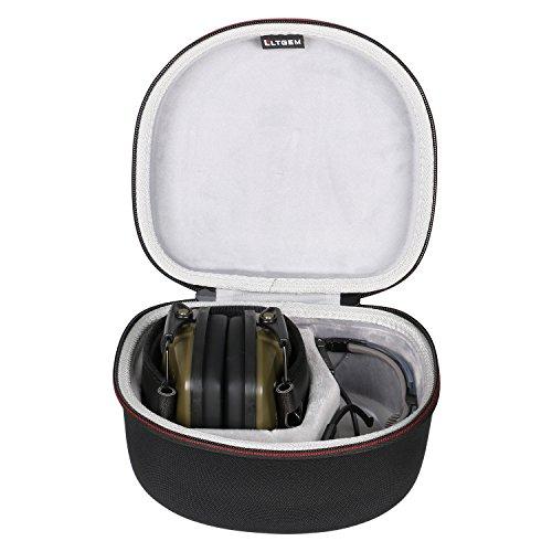 LTGEM Bolsa de almacenamiento de viaje duro caso para Howard Leight de Honeywell Impact Earmuff deporte y Genesis Sharp-Shooter gafas de seguridad Gafas (R-03570) - Negro