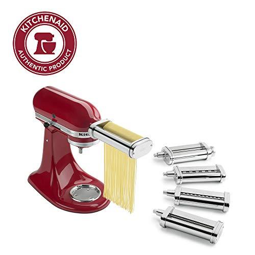 KitchenAid Pasta Deluxe Set (Pasta Roller, Spaghetti Cutter, Fettuccine Cutter, Capellini, Lasagnette Cutter)