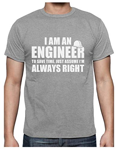 Green Turtle T-Shirts Camiseta para Hombre - I Am An Engineer - Regalo Divertido para Ingenieros Large Gris