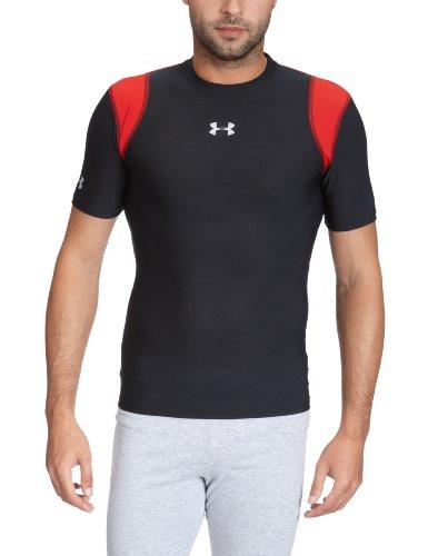 Under Armour Herren T-Shirt HG Vented Compression Shortsleeve, blk, L