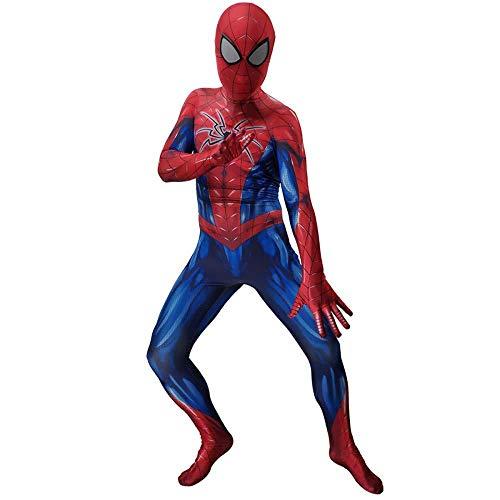 Spider-Man Einteiler Dress Up Rollenspiel Wunder Halloween Weihnachten Requisiten Party Thema Kleidung,Adult-XXXL