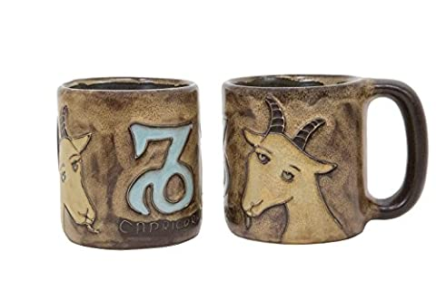 One (1) MARA STONEWARE COLLECTION - 16 Oz COFFEE Cup Collectible Mug - Zodiac Sign - Capricorn The Sea Goat