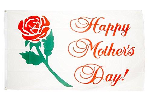 (Fahne / Flagge Happy Mother's Day / Muttertag + gratis Sticker, Flaggenfritze®)