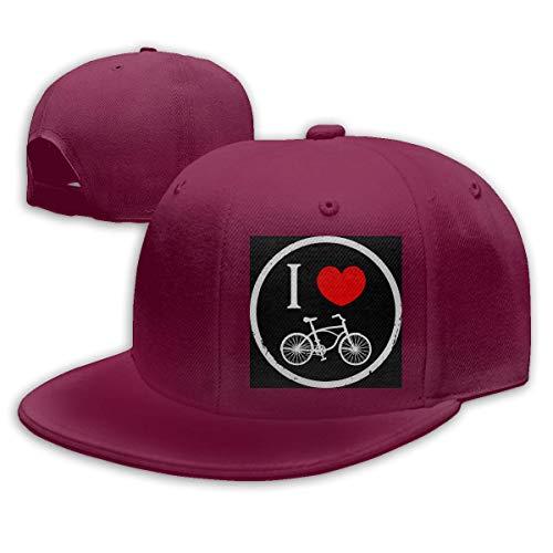 DAIAII Herren Baseball Caps,Hüte, Mützen, Classic Baseball Cap, I Love Cycling Round Women's Men's Adjustable Plain Baseball Cap Dad Hat (Fiestas De Adolescentes Halloween)