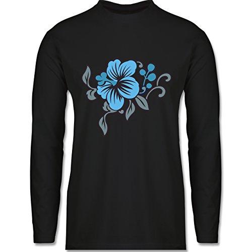 Blumen & Pflanzen - Blumen - Longsleeve / langärmeliges T-Shirt für Herren Schwarz