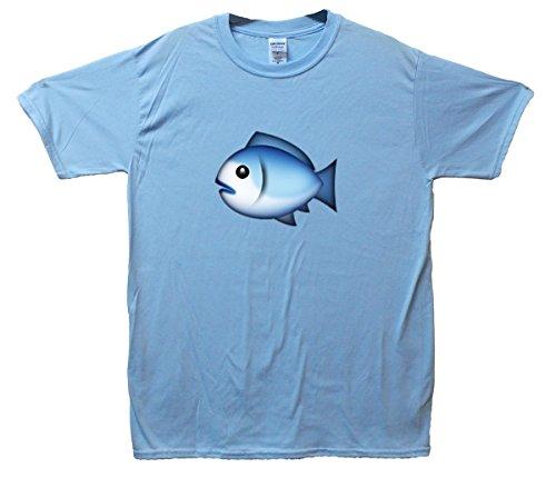 Fish Emoji T-Shirt Hellblau