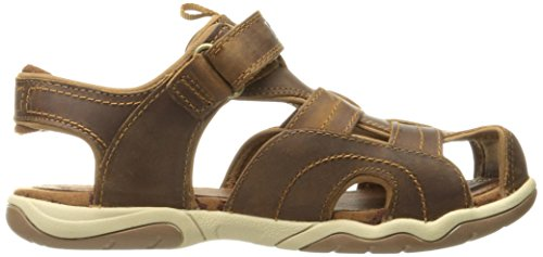 Timberland Active Casual Sandal Ftk_ek Oak Bluffs Leather Fisherman,mixte enfant Marron (Rust)