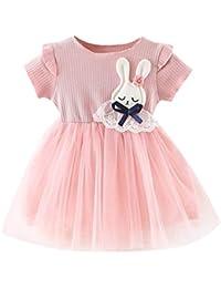 Culater 2019 Neonate Toddler Gonna in Tulle di Coniglio con Patchwork  Increspato 295d0cb21ef