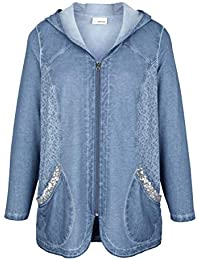Miamoda Sweatjacke In Blazer-form Blau