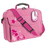 Trust 15.4-inch Laptop Bag and Optical Mouse Bundle (Pink)