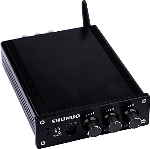 24v Verstärker (Yeeco Hifi Mini-Bluetooth-Verstärker 160W+160W DC 12 / 24V drahtloser Bluetooth Stereo Dual Channel Audio Receiver Power Amp Ampli für Ton-Audiosystem (Kein Netzteil))