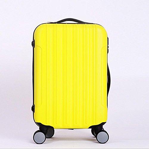 Xiuxiandianju 20 pollici 24 pollici 28 pollici universale ABS asta caso impermeabile usura diversi bagagli valigia bagaglio di viaggio dimensione , yellow , 20 inch