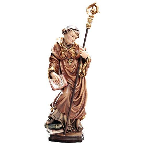 Demi Art - Heiligenfigur Hl. Ägidius mit Hirschkuh und Pfeil aus Berg-Ahorn Holz geschnitzt und von Hand bemalt, 36 cm (Pfeil Krippe)