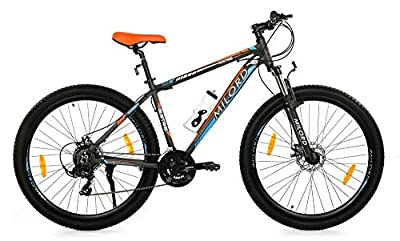 Milord. MTB - Mountain Bike Rahmen - Fahrrad - Mustang - 21 Gang - Schwarz Orange - 29 Zoll