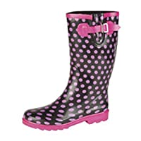 Jileon Pink Spotty Wellies - Size 6