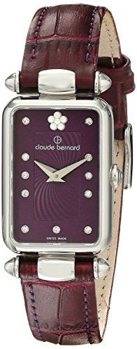 Claude Bernard Women's 20502 3 VIOP2 Dress Code Analog Display Swiss Quartz Purple Watch