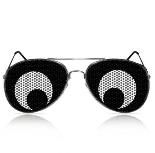 Partybrillen und Promotionbrillen Fasching Spassbrille Karneval Funbrille mygafas - Feigling Augen (PILOT) (Raum Themen Kostüm Frauen)