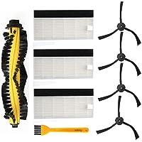 Accesorios de recambio para aspirador de robot ILIFE A4 Filtro HEPA Cepillos laterales de cepillo principal