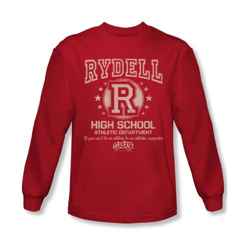 Grease - Herren Rydell High Langarm-Shirt In Red Red