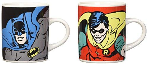 Batman & Robin - Mini Mug Set - 2 Espresso Tassen im Geschenkkarton