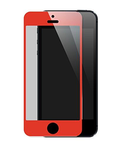 The Kase Paris Protection d'écran en verre trempé pour iPhone 5/5s/5C/SE Rouge