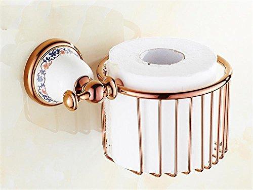 WEI kupferner antiker Papierkorb, Toilettenpapier-Regal-Badezimmer-Regale,Roségold