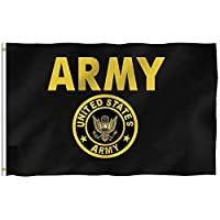 Oersted US Army Gold Crest Flag Flag Fly Breeze 3x5 -Polyester- Flags with Brass Grommets 3 X 5 FT
