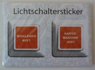 Lichtschalter- Sticker Bügeleisen/ Kaffeemaschine