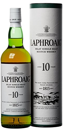Laphroaig Whisky Islay Single Malt, 10 Años - 70 cl