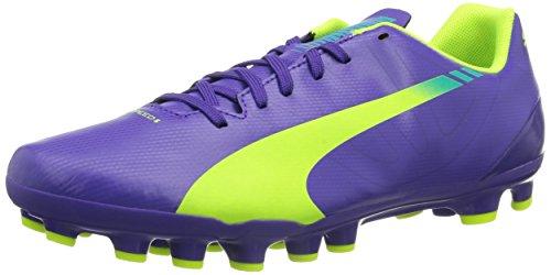 Puma evoSPEED 5.3 AG Herren Fußballschuhe Violett (prism violet-fluro yellow-scuba blue 01)