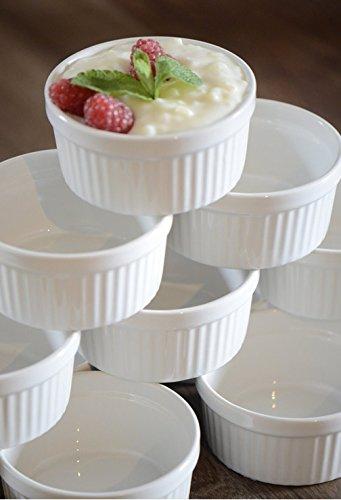 12 Stück Soufflé Souffle Förmchen Pastetenform...