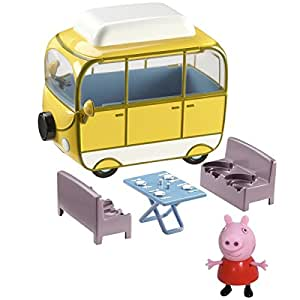 peppa pig le camping car et peppa v hicule et figurine 5cm import royaume uni. Black Bedroom Furniture Sets. Home Design Ideas