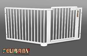 one4all 1 1 barri re de s curit modulable barri re d 39 escalier et barri re pour porte blanc. Black Bedroom Furniture Sets. Home Design Ideas