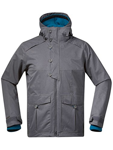 Bergans Damen Bjerke Mantel Softshell solid dark grey/deep sea