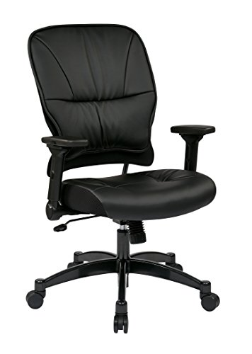 space-seating-eco-leather-seat-and-back-4-way-adjustable-flip-arms-and-gunmetal-finish-base-managers