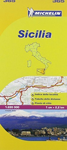 Sicilia Michelin Local Map 365 (Michelin Regional Maps) by Michelin (2008-01-02)
