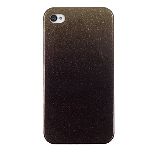 MOONCASE Ultra-thin TPU Silicone Housse Coque Etui Gel Case Cover Pour iPhone 4 4G / 4S café café