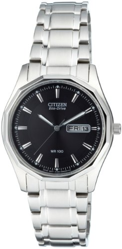 Citizen Men's Quartz Watch with Black Dial Analogue Display Quartz Stainless Steel BM8430 59EE